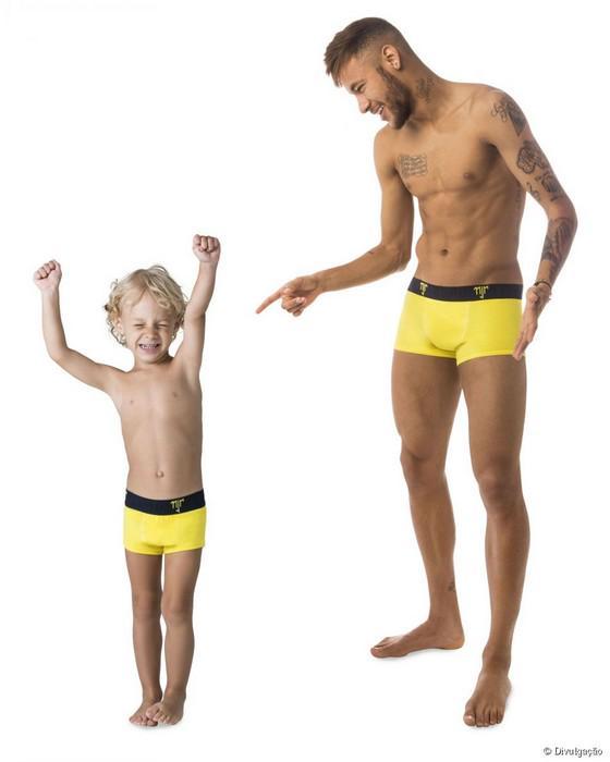 Picture Neymar And His Son Davi Lucca In Underwear Ad Campaign