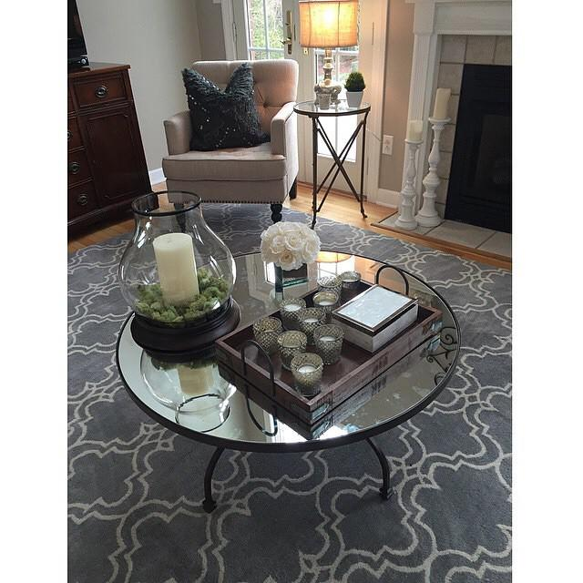 Pottery Barn On Twitter Lovely Shot From Patriciaomara Making Our Willow Coffee Table Scroll Tile Tufted Rug Shine Http T Co Jdxosyj6by