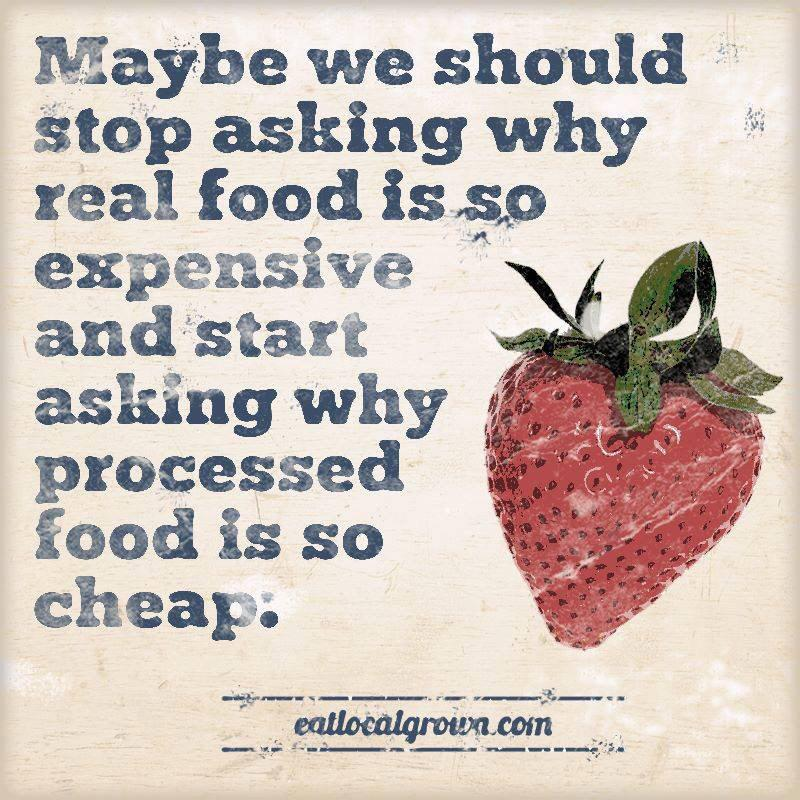 Should stop asking why real food is so expensive and start asking why