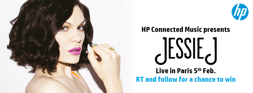 Want to see @JessieJ live in #Paris with #HPConnectedMusic? RT to #Win. http://t.co/lQPWlD8U4I