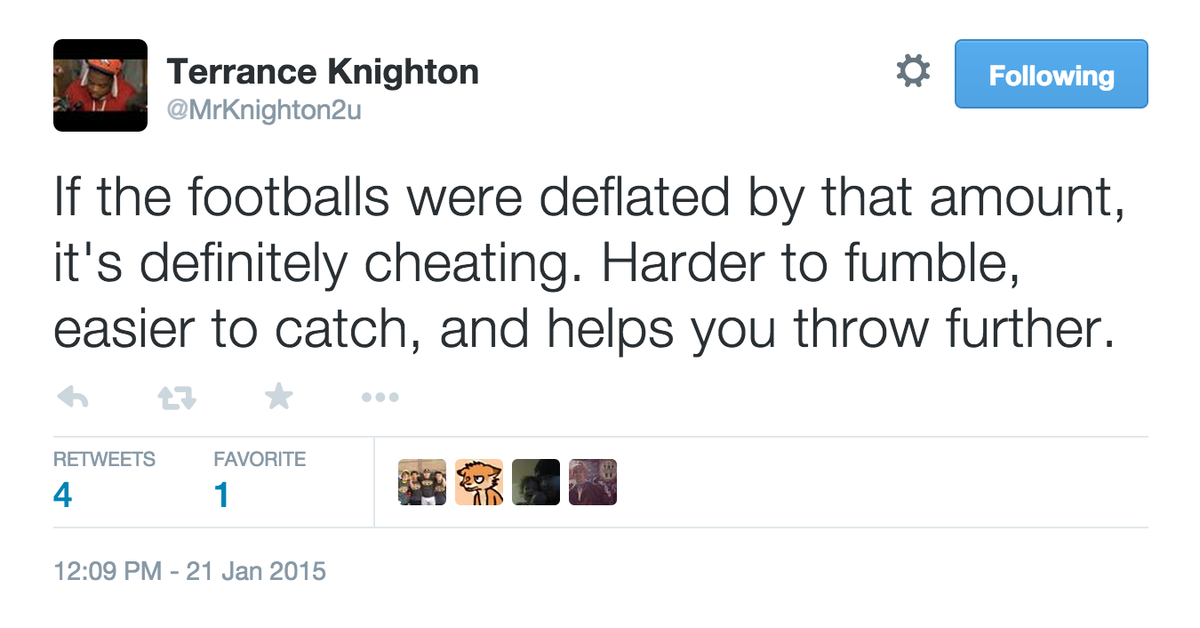 Here's what Broncos Terrance Knighton says about deflated footballs. http://t.co/ZjzijWGyvr