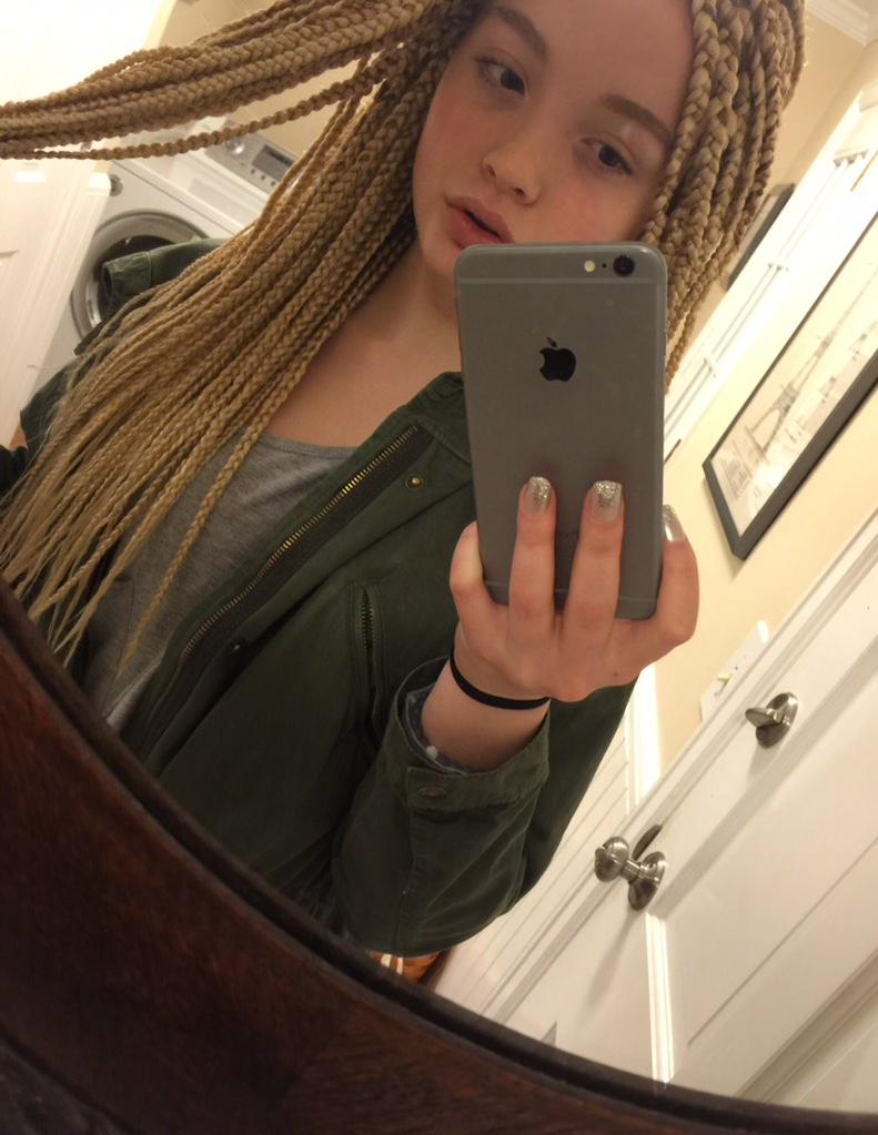 miss white blonde girl