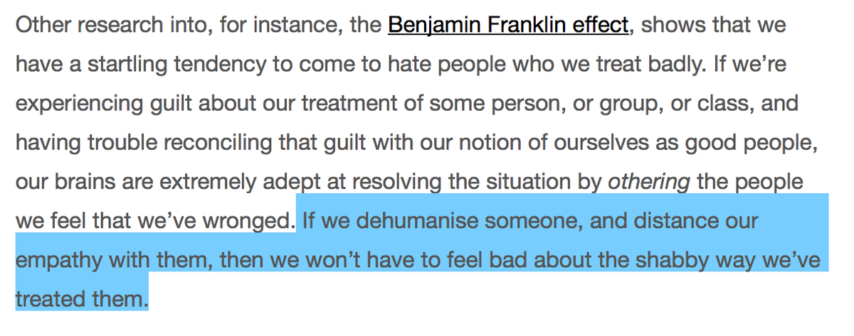 TIL that there's something called the Benjamin Franklin Effect and it's kind of horrifying: https://t.co/PWWxmxwgvp http://t.co/fnsZQKTLCR
