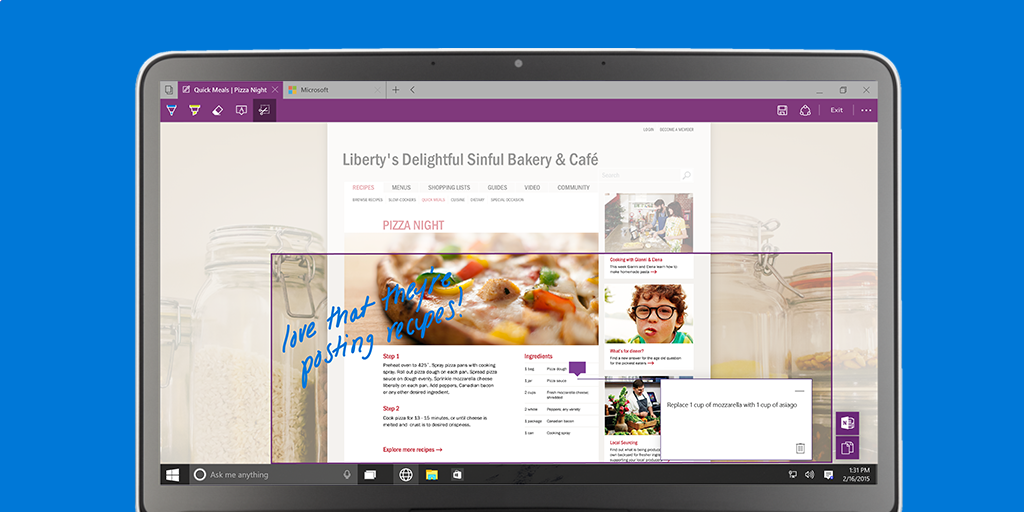 LIVE UPDATE: Put the web to work with the new browser designed to quickly get things done. #Windows10 http://t.co/7EOVK5BJ6B