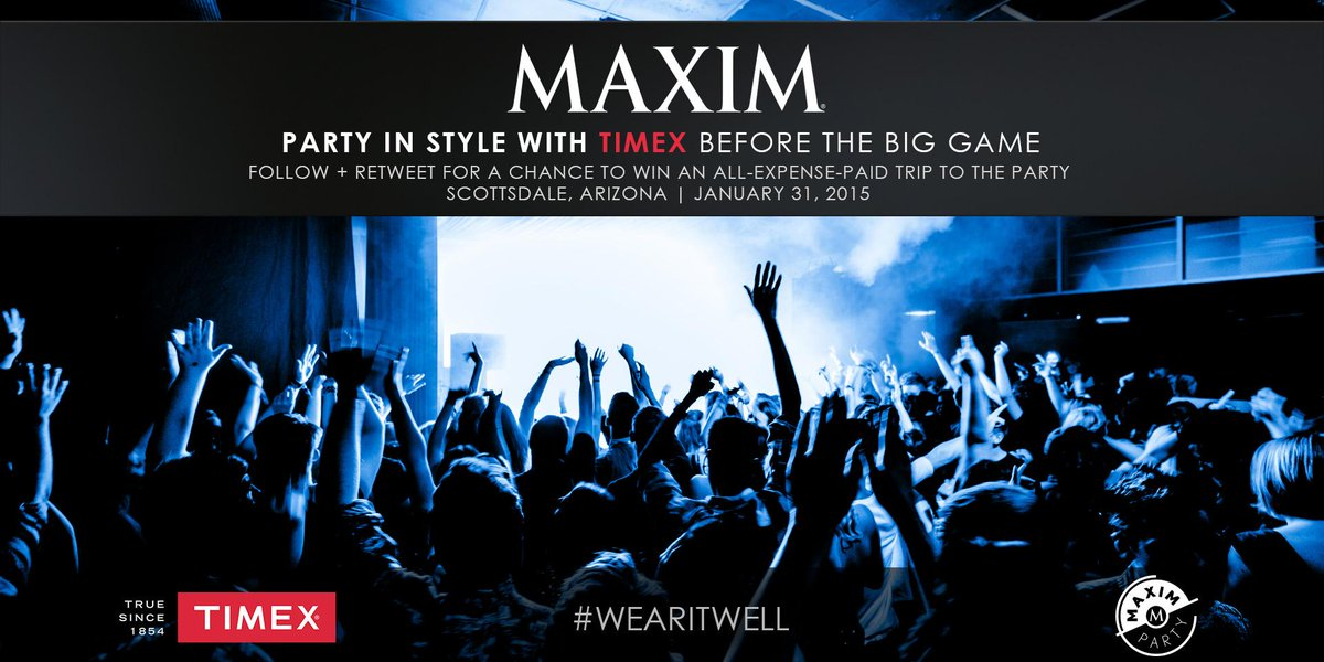 Follow and RT to enter for the chance to #MaximParty w/ us & @MaximMag before the #BigGame. http://t.co/00fqXvoeRU http://t.co/acGOnW9H3H