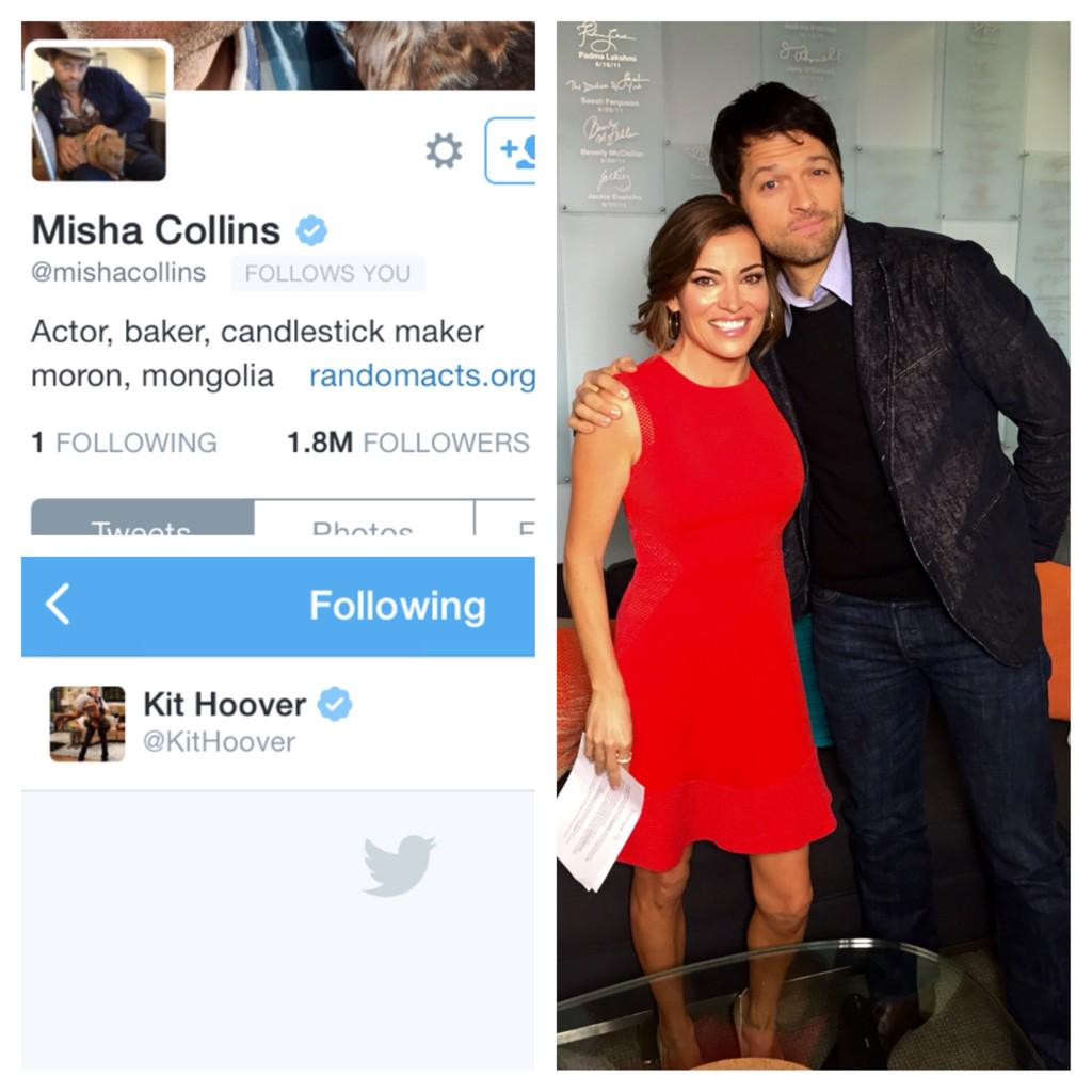 @mishacollins look whose your plus one!
