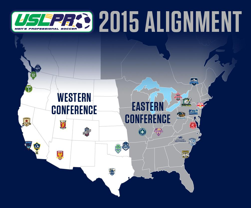 BREAKING: #USLPRO unveils league alignment and playoff format for 2015: http://t.co/l5RzVGSsme http://t.co/VKjxLl1c4K