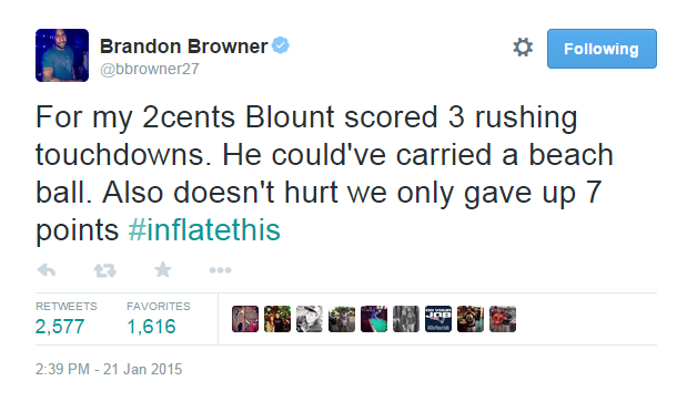 Patriots CB Brandon Browner weighs in on New England's current controversy. http://t.co/G1x5oAJBpO