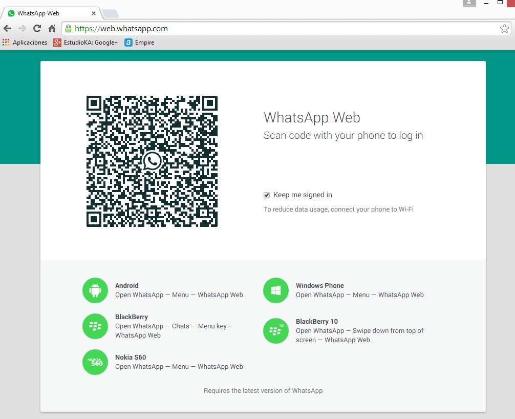 WhatsApp Web: finalmente B75l9_eIYAAryRW