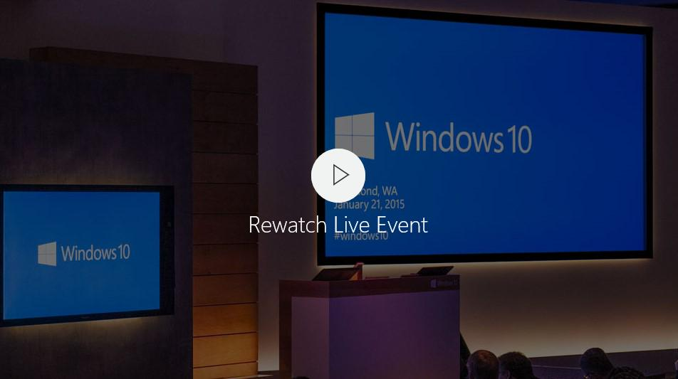 The entire #Windows10 Event is available to watch On-Demand at http://t.co/rjr5kdmFP8 http://t.co/yydxtpjNbh