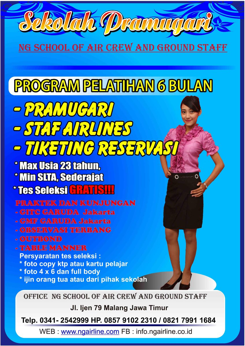 Lpp Ng On Twitter Sekolah Pramugari Malang Http T Co Gebpon2nvi