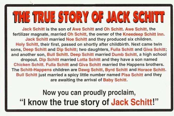 The story of jack schitt