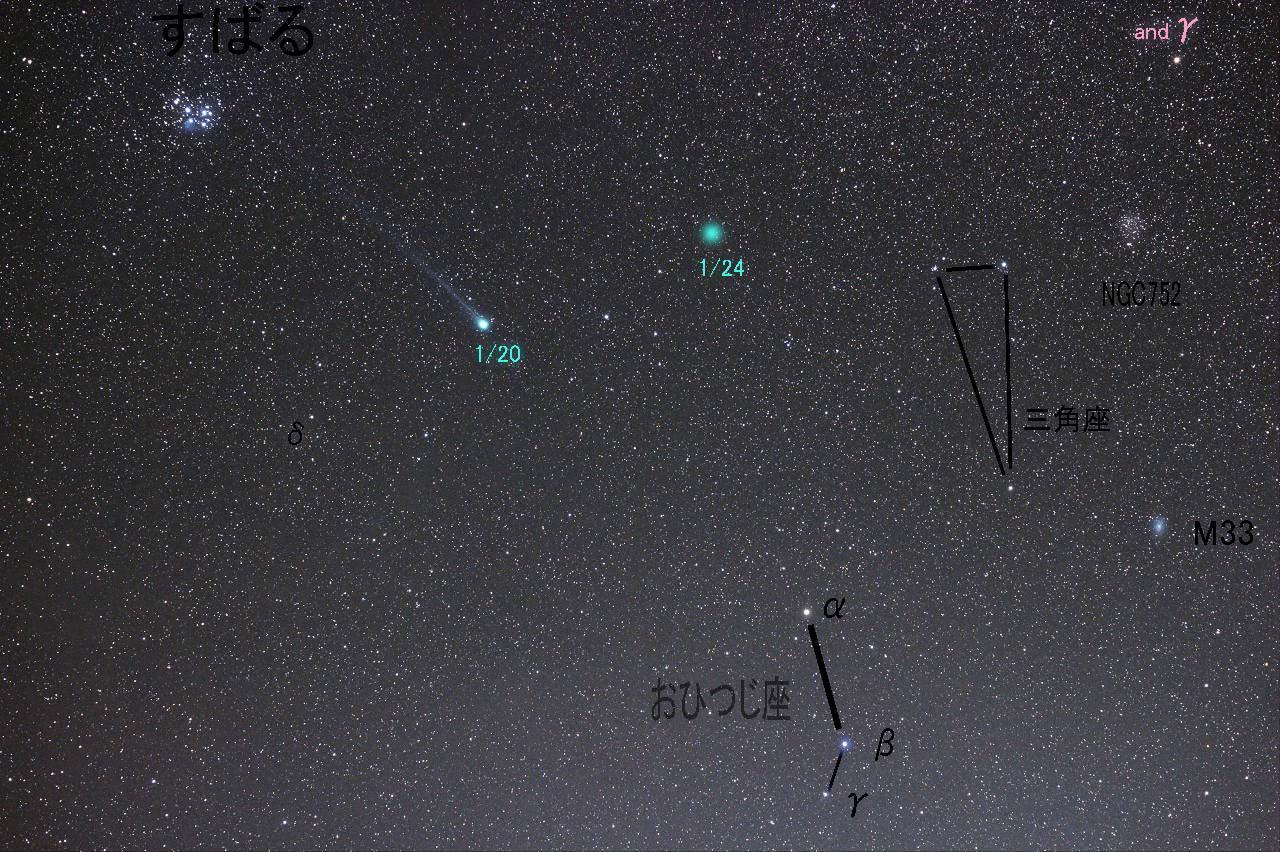 おひつじのしっぽ? 今週末のラブジョイ彗星は・・・。