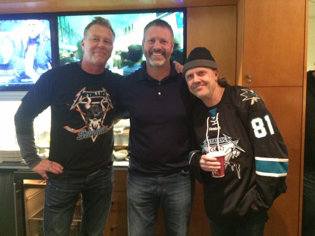 Gotta love Metallica night at the @SanJoseSharks game. Great guys! http://t.co/CXP3aUqnkZ