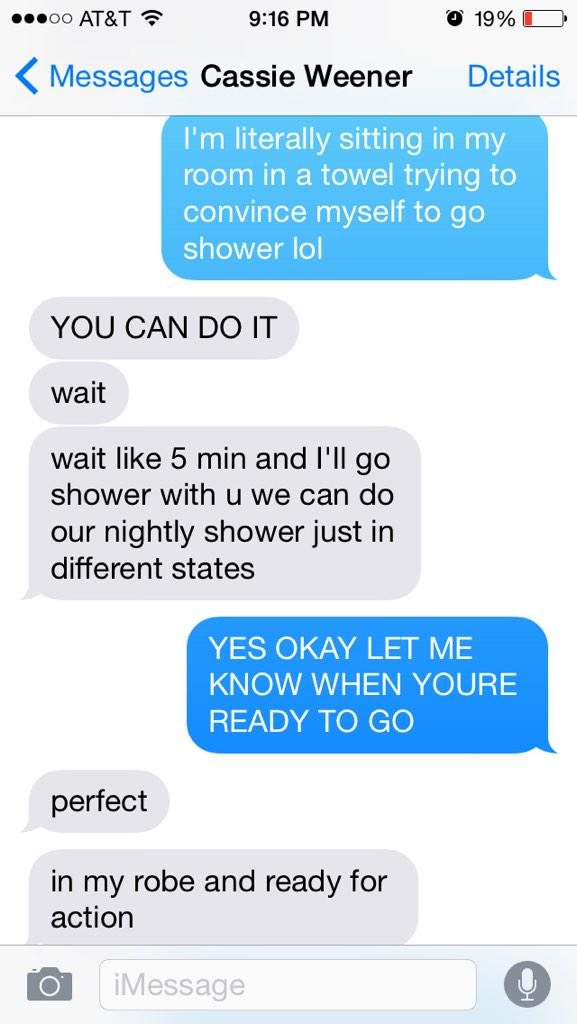 we like to shower together
