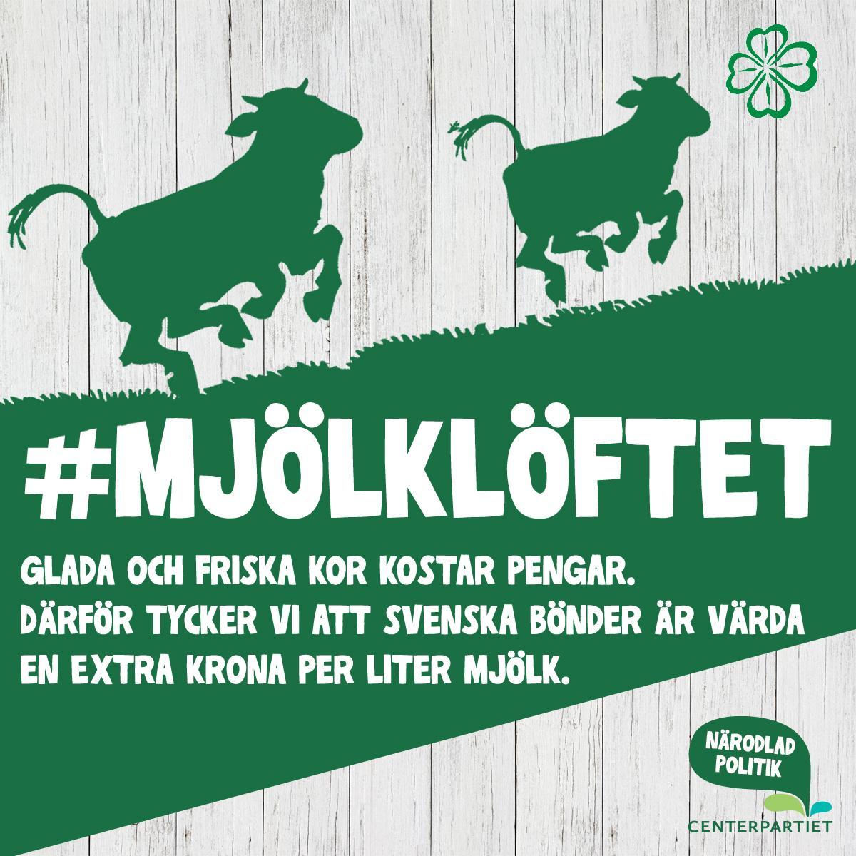 En krona mer för mjölken gör stor skillnad.#mjölklöftet RT:a gärna. http://t.co/Q39kEspyKQ http://t.co/2udO1VIDFz