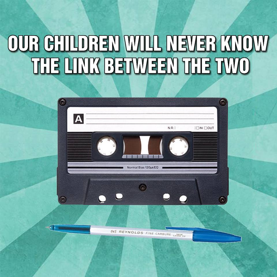 #ExplainThe90sIn4Words   Cassette tape and pen http://t.co/oHOJqOuBJx
