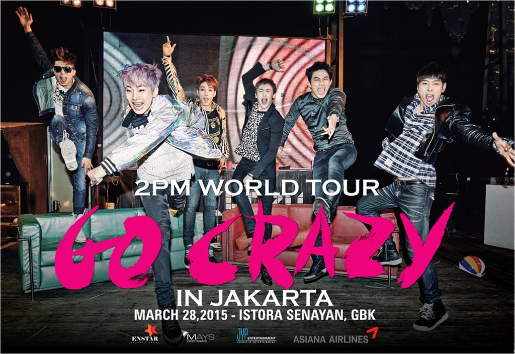 "2PM World Tour ""GO CRAZY"" in Jakarta. March, 28th 2015 - Istora Senayan, Gelora Bung Karno"