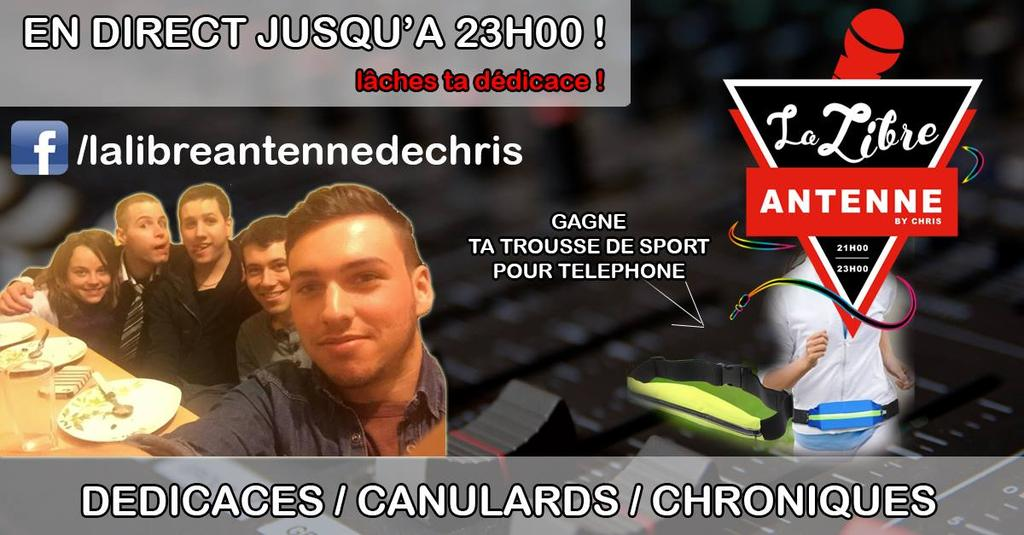 #LaLibreAntenneDeChris #Chris #21h23h #ToutLesVendredis #AdoFun #Webradio