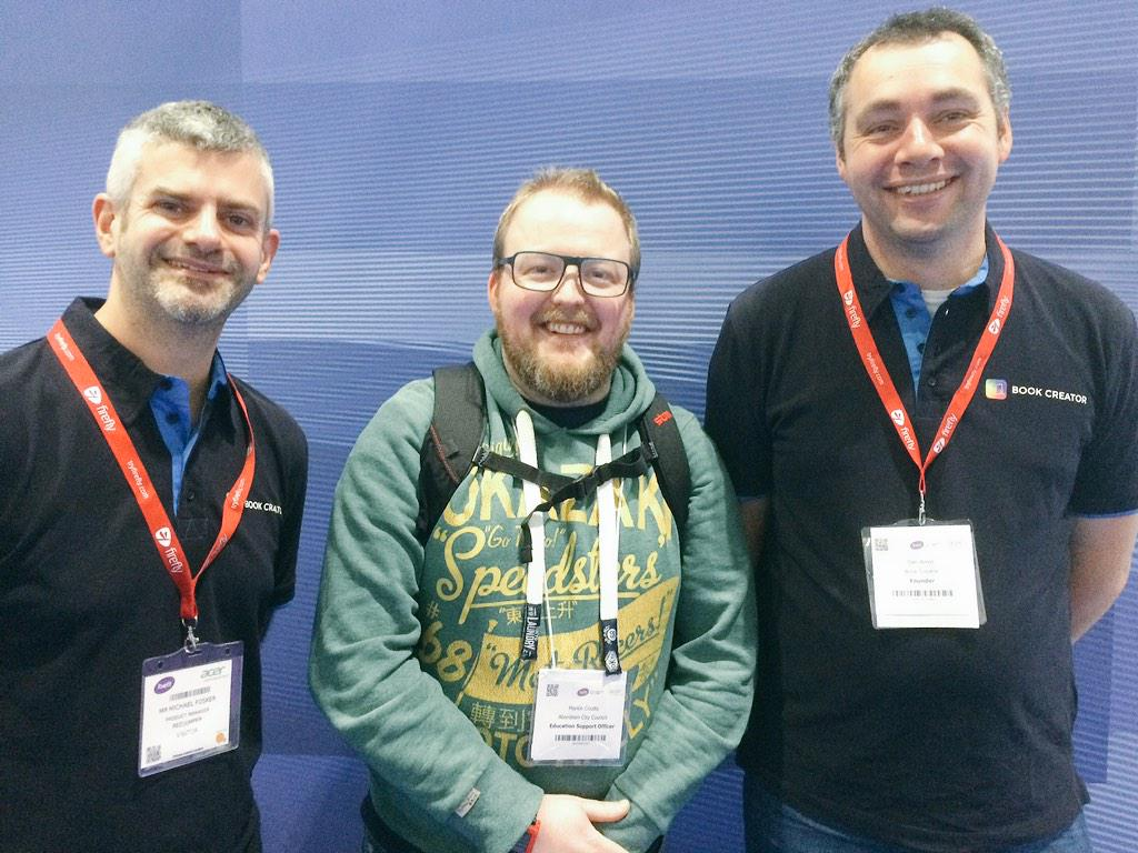 Pleased to meet @mcoutts81 at #Bett2015. Lots of useful insights from Martin, thanks! #ipaded #edtech http://t.co/dQMCTR8YP5