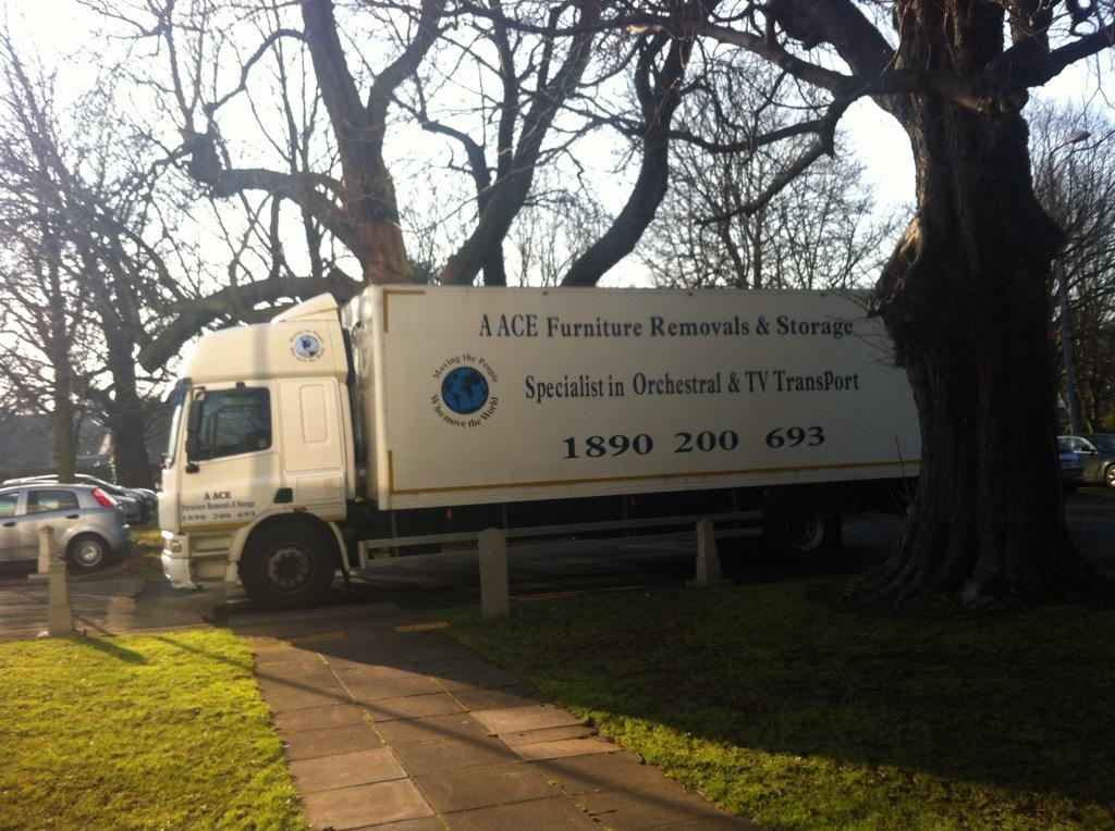 Truck packed with instruments heading from @rte to @NCH_Music for tonight's epic @DavidGArnold @rte_co concert! http://t.co/bhKenI50b1