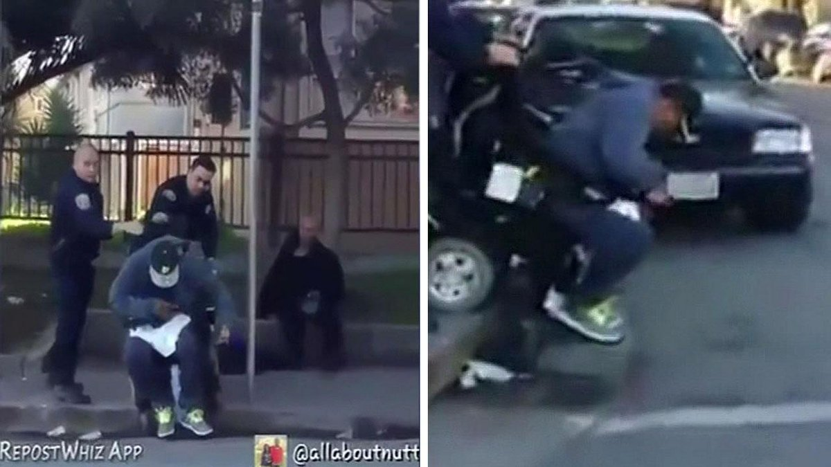 Video has surfaced that appears to show an SFPD officer tipping a man out of his wheelchair. http://t.co/e0BbMFn4GR http://t.co/hGJx2sTIu9
