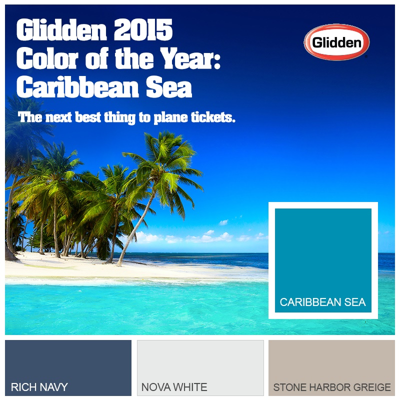 Glidden Paint On Twitter Caribbean Sea Is Our 2015