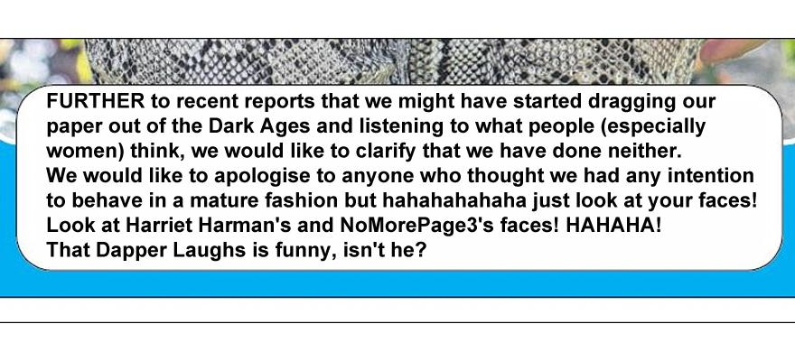 RT @davidlberesford: In case you missed The Sun's page 3 correction, here it is in full... http://t.co/GNmsVqtUXr