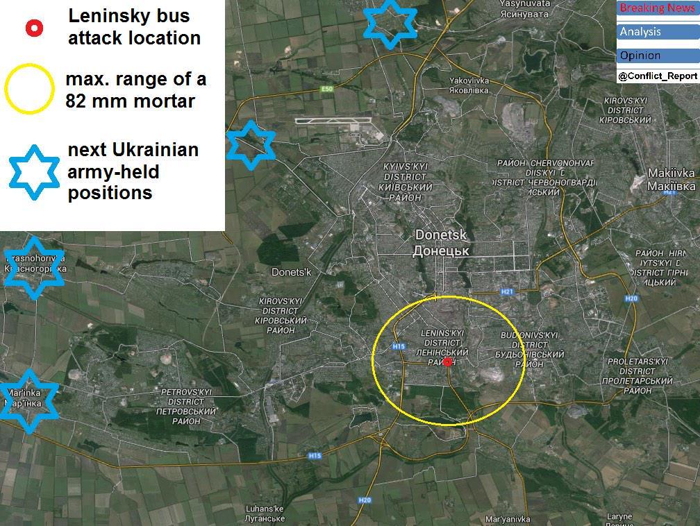 В Донецке снаряд попал в остановку: есть жертвы, российские СМИ сообщают о 13 погибших - Цензор.НЕТ 6051