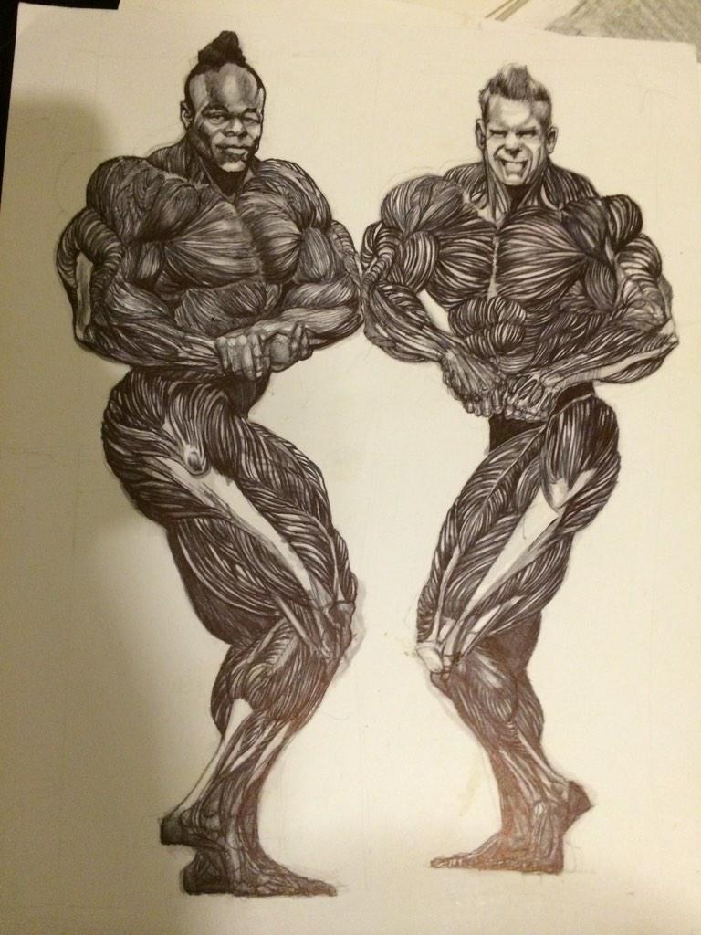 Kai greene on twitter throw back to the 2011 i never for Kai greene painting
