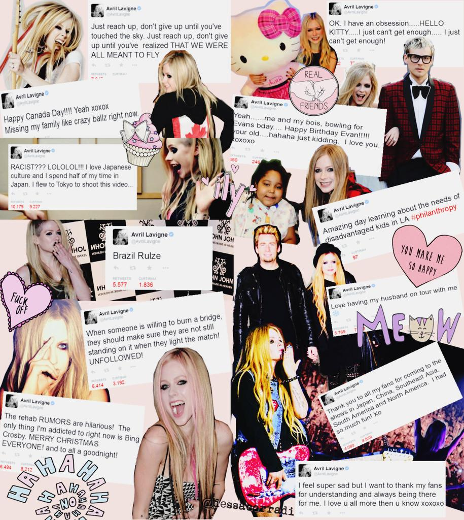 Hey Avril, made this collage for you