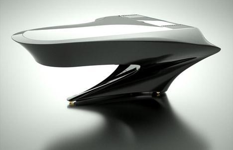 Design del pianoforte Boganyi simile alla nave spaziale Enterprise di Star Trek