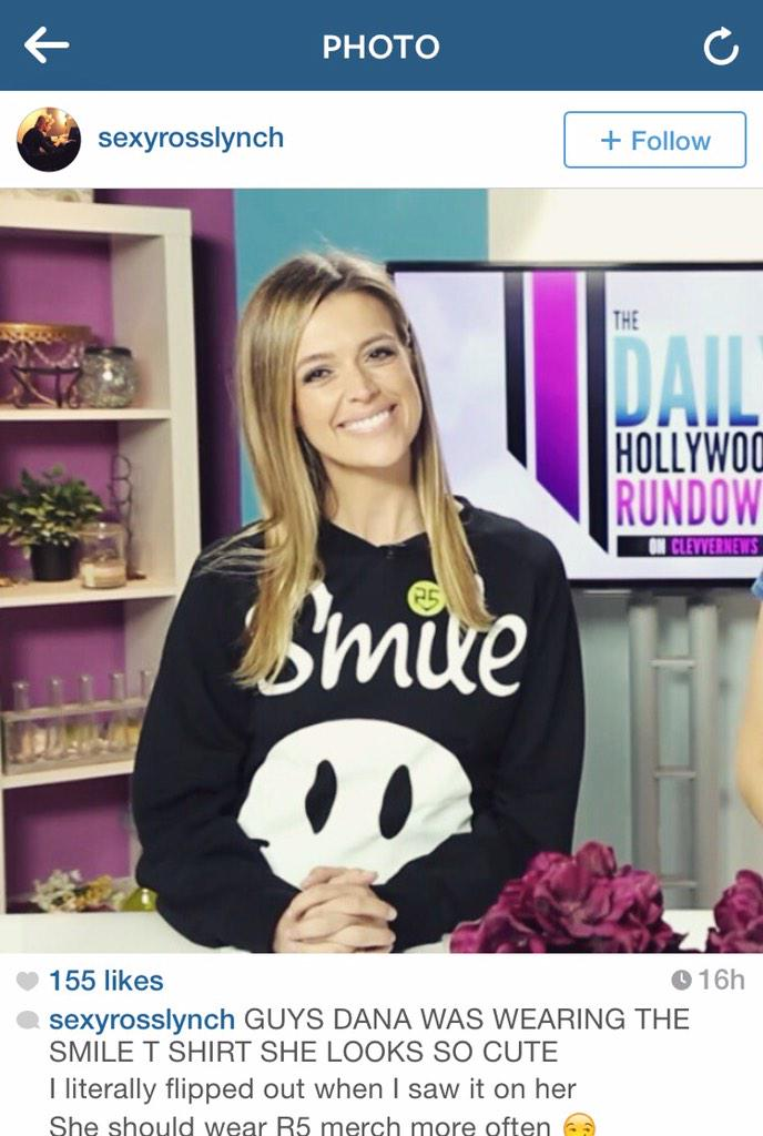 Thx for all the love on this @officialR5 #smile sweatshirt on #DHR!! Xoxo #r5family @HollywoodRecs #casualfriday http://t.co/Gl7tnLXFJz