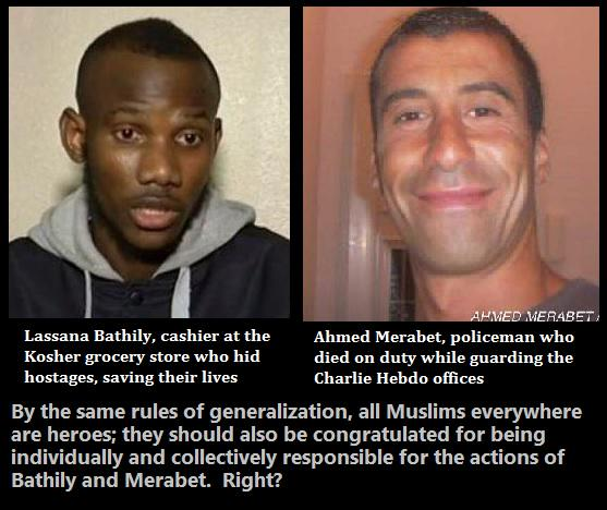 Hey, if you can generalize about Muslims on one side, you can generalize on the other too. Right?  #Paris http://t.co/SRMrLYsa5F