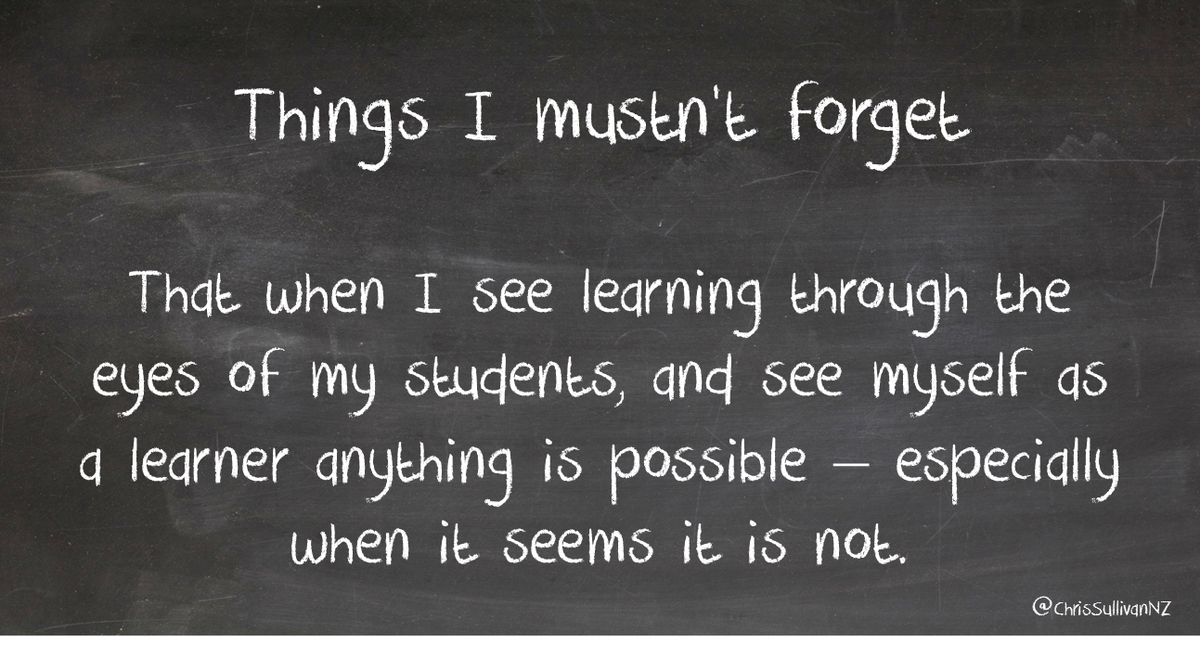Remember that seeing learning through the eyes of Ss & seeing myself as a learner makes a difference – #aussieED http://t.co/jZsnrb3Syf
