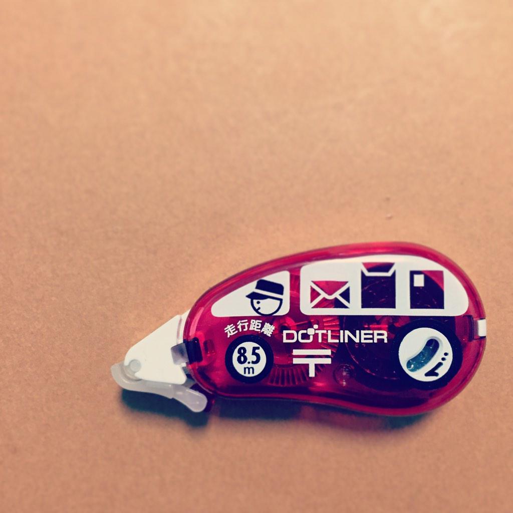 郵便局限定のテープのり。 走行距離という表現がツボ。 #郵便局 #bungu #文具 #限定品 http://t.co/20TA4ZimWD