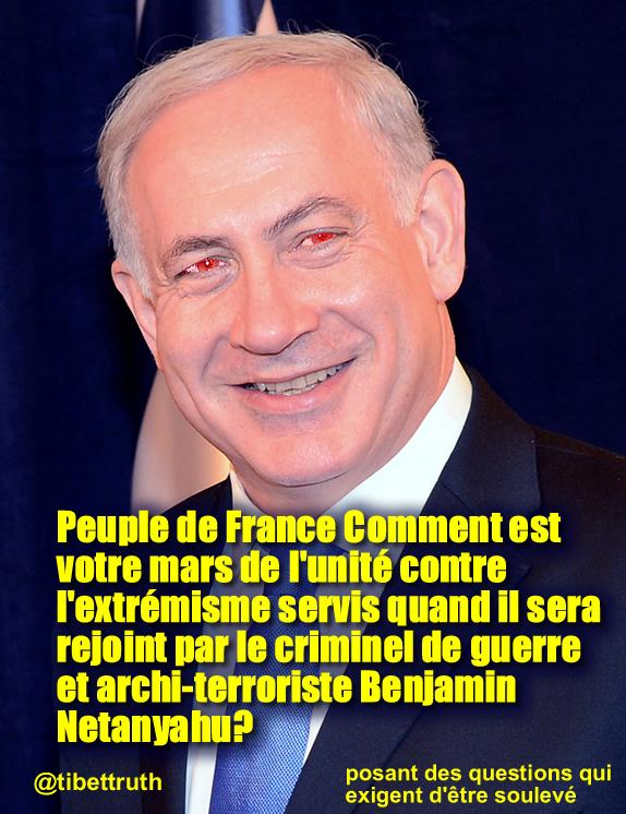 How can a march against extremism give a place of honor to Benjamin Netanyahu?#UnityMarch #Paris http://t.co/Q949bFA5r8