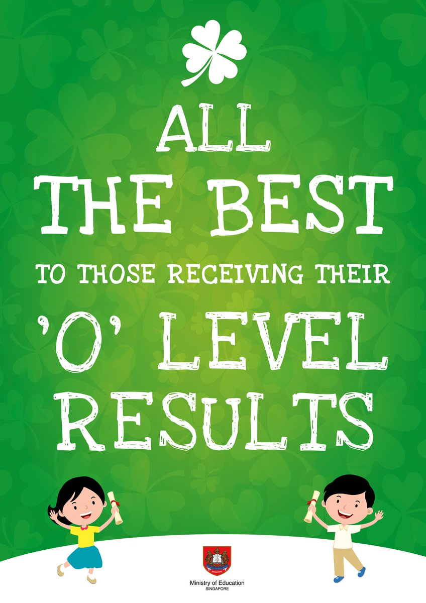 All the best to those receiving their 'O' Level results! #edsg http://t.co/WxiHzcYSXI