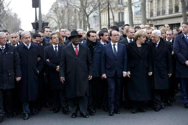 Marching in Paris: Blair, Netanyahu, Sarkozy, etc - responsible for 1m Muslim dead http://t.co/RtChArVcUE http://t.co/uYTmNQ64NE