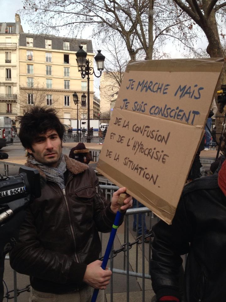 """""""I'm marching but I'm conscious of the confusion and hypocrisy of the situation."""" http://t.co/OUGTKRn7iP"""