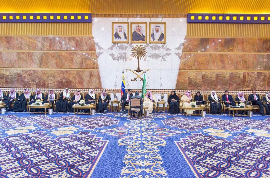 الأمير سلمان يبحث مع الرئيس الفنزولي نيكولاس مادورو العلاقات بين البلدين، وتعزيز التعاون الثنائي.
