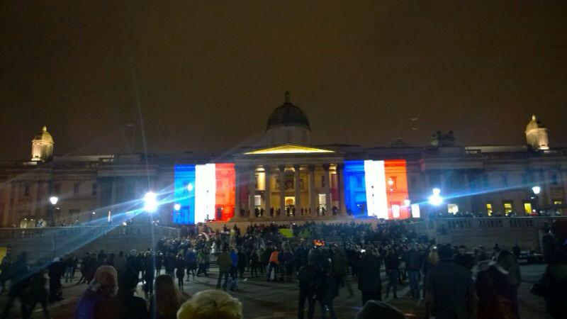 Just one example of London's incredible response to events in Paris #unity #JeSuisCharlie http://t.co/1aU4aNloxi