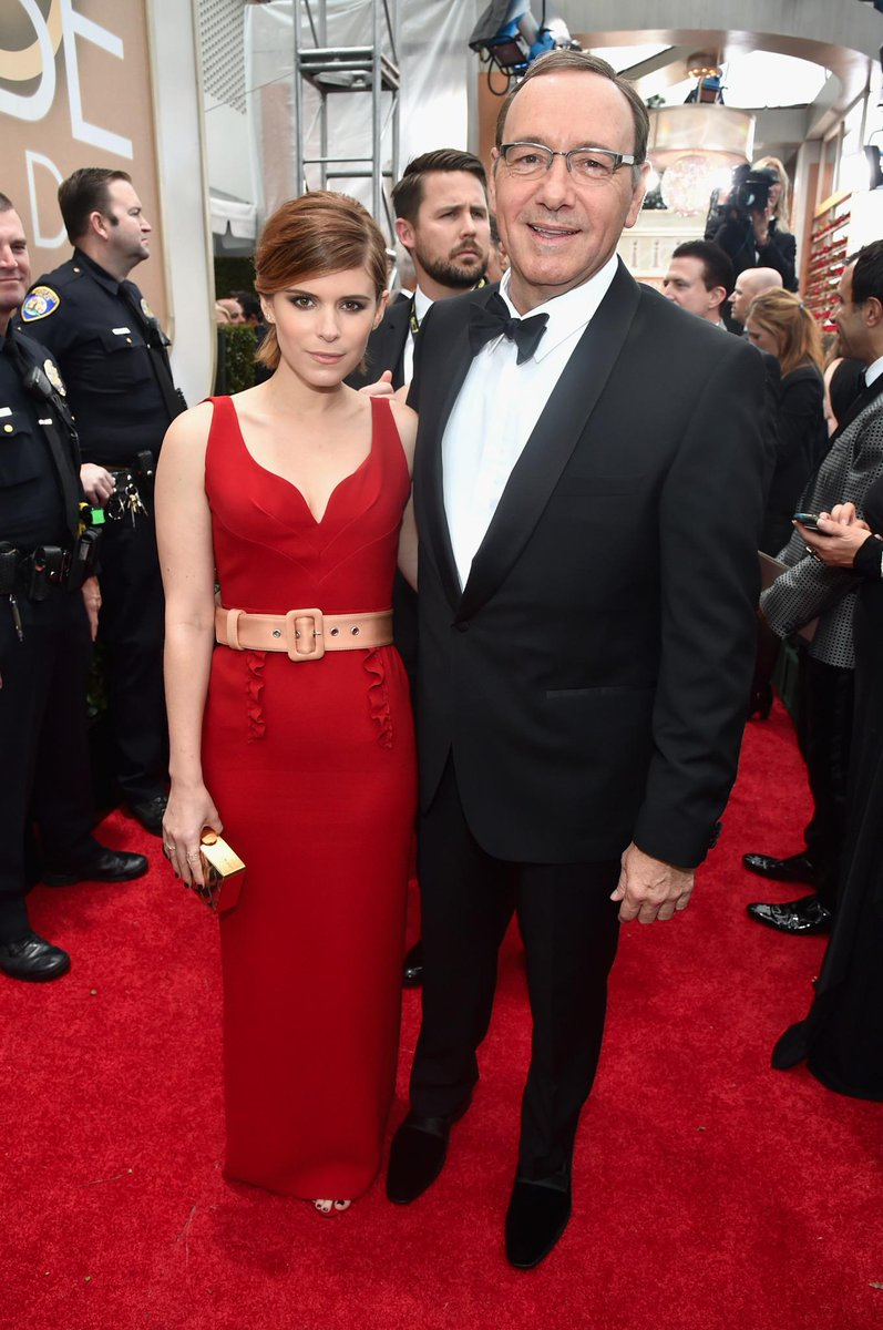 Not great - the belt needs to go. RT @nbc: How great do @_katemara and @KevinSpacey look?! #GoldenGlobes http://t.co/CGWNvLmofi