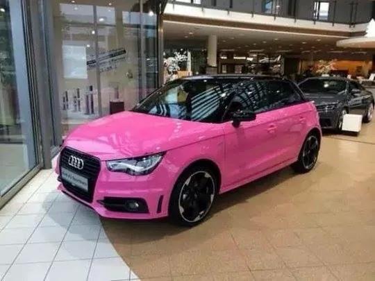 marion on twitter cette voiture elle est pour moi audi a1 rose barbie. Black Bedroom Furniture Sets. Home Design Ideas