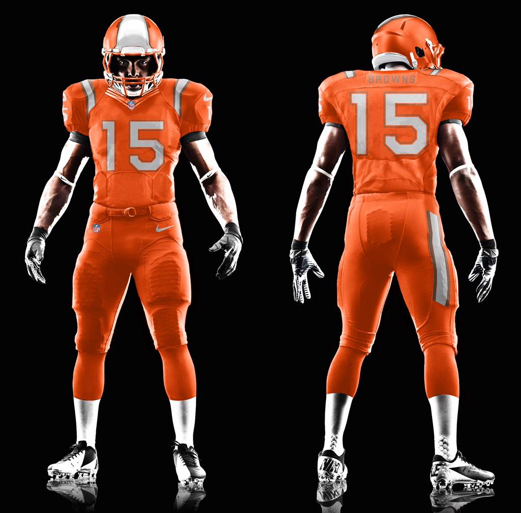 Supposed leak of the new #Browns uni seen earlier on @DawgPoundNation - what do you think? http://t.co/P94M2nh8lg
