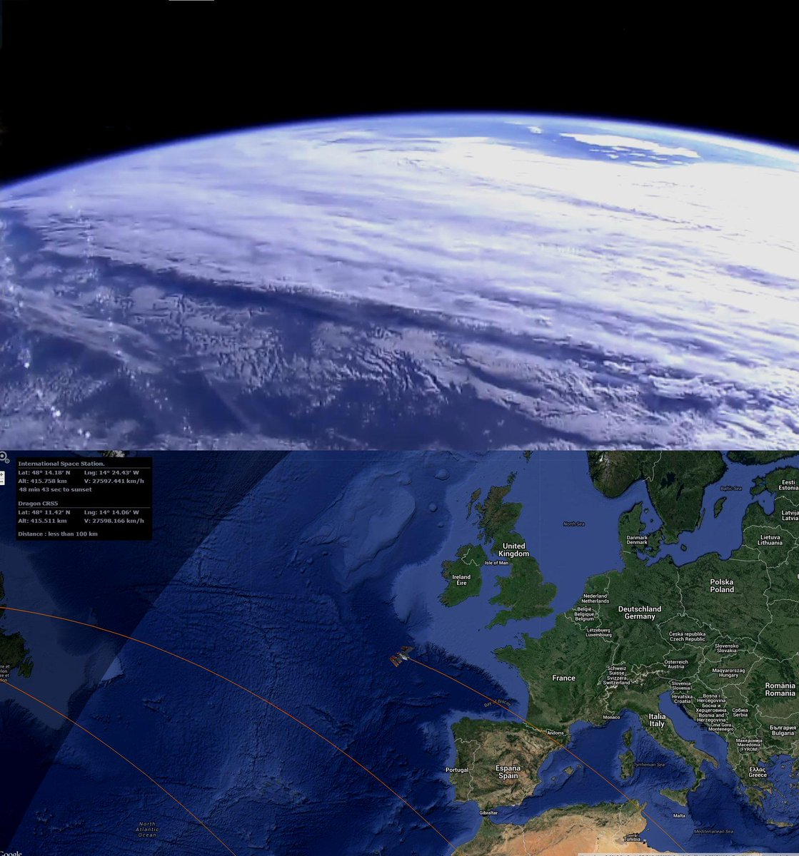 Position iss aktuelle LIVE REAL