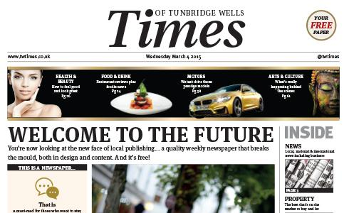 A #NEW tabloid newspaper called the Times of #TunbridgeWells is set to be launched @timesoftw http://t.co/5HagoBElHk http://t.co/3F1PMko08d