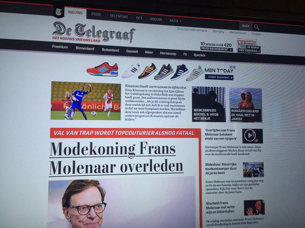 Bij de Telegraaf voor preview nieuwe website die binnenkort in beta gaat. Primeurtje dus ;-) http://t.co/05PbCV98Rv