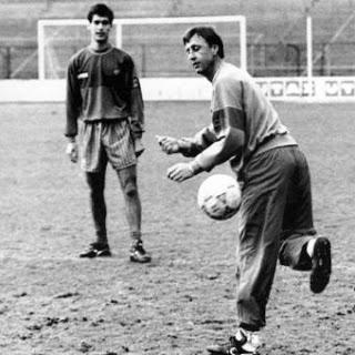 """""""Mucha gente se reía de los rondos, pero el rondo es la base del fútbol: velocidad, toque, espacios cortos""""."""