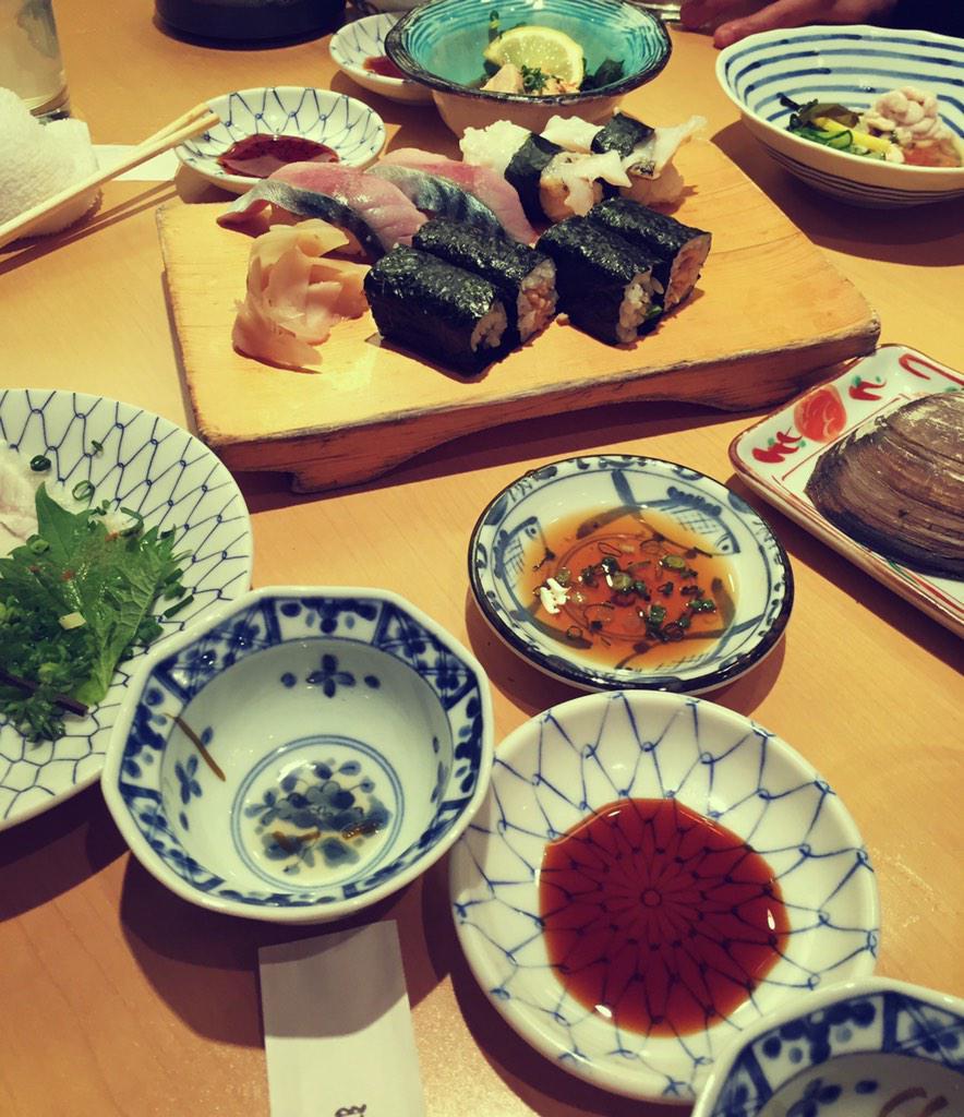 アメスタで宣言した通り、寿司食べに来ました😂 胃袋宇宙😂笑